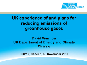 Meeting the UK`s carbon budgets