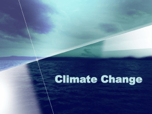 Human causes for climate change