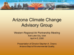 PowerPoint Presentation - Arizona Climate Change Advisory Group