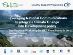 Leveraging National Communications to integrate climate policy into