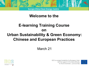 PowerPoint - Urban Sustainability and Green Economy