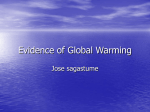 Evidence of Global Warming-JOSE SAGASTUME