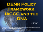 DENR Policy Framework, IACCC and the DNA