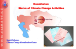 Climate change activities in Kazakhstan
