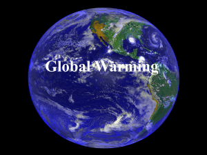 Unit-IV-Global Warming- Causes