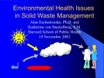 Environmental Health Issues in Solid Waste Management