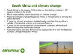 South Africa and climate change