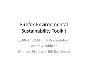 Firefox Environmental Sustainability Toolkit