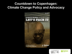 Countdown to Copenhagen: Climate Change Policy and Advocacy