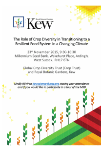 The Role of Crop Diversity in Transitioning to a