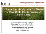 """Climate Cost of Cultivation"": A Method Climate Change"