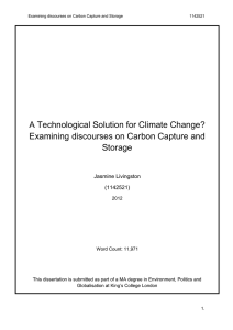 A Technological Solution for Climate Change? Storage