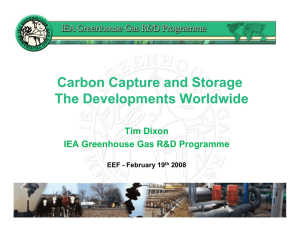 Carbon Capture and Storage The Developments Worldwide