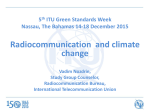 Radiocommunication and climate change 5 ITU Green Standards Week