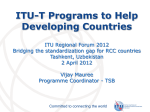 ITU-T Programs to Help Developing Countries
