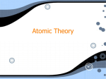 Atomic Theory - Wallingford-Swarthmore School District