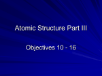 Atomic Structure Part III - Great Neck School District