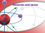 Elements and Atoms - Portola Middle School