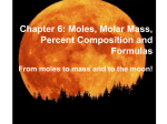 10.2The Mole-Mass Relationship