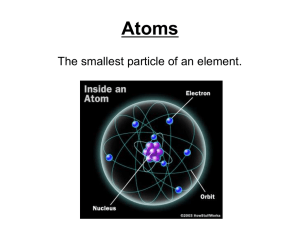 Atoms and Periodic Table