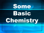 Some Basic Chemistry