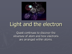 Light and the electron