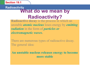 Section 19.1 Radioactivity