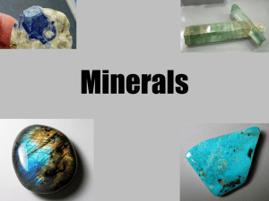 Minerals - Mrs. Plante Science