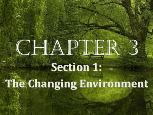 The Changing Environment - Mr. Hamilton`s Classroom