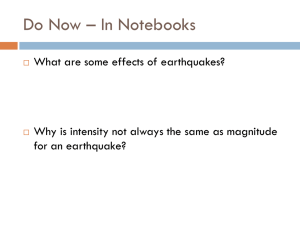 Earthquake Hazards - Paramus Public Schools