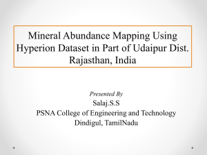 Mineral Abundance Mapping Using Hyperion Dataset in Part
