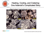 Heating, Cooling, and Cratering: One Asteroid's