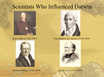 Scientists Who Influenced Darwin