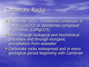 Carbonate Rocks - Cal State LA