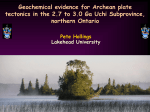 Stratigraphy & geochemistry of the Nipigon basin