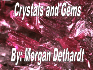 Crystals and Gems - The Compass 09-10