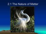 2.1 The Nature of Matter - Sonoma Valley High School