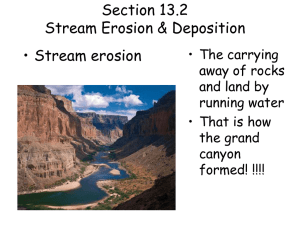 Section 13.2 Stream Erosion & Deposition