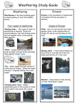 Weathering Study Guide - Effingham County Schools