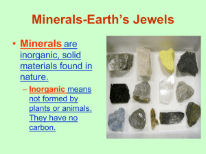 Minerals-Earth`s Jewels