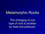 Metamorphic Rocks - District 128 Moodle