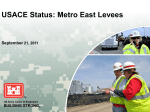 September 21, 2011 USACE Report to the Board of Directors