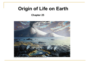 Origin of Life - De Anza College