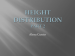 Height Distributions & Taboos