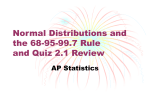 Normal Distributions and the 68-95