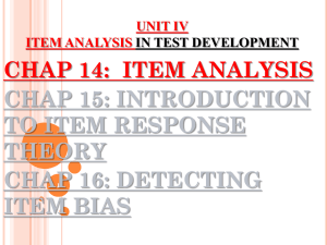 CHAPTER 14 ITEM ANALYSIS