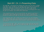 Stat 281 Introduction to Probability and Statistics