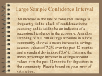 Large Sample Confidence Interval