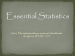 Essential Statistics: (what I should know about stats)