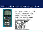 Conf Int on TI